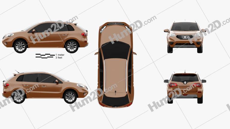 Renault Koleos 2012 car clipart