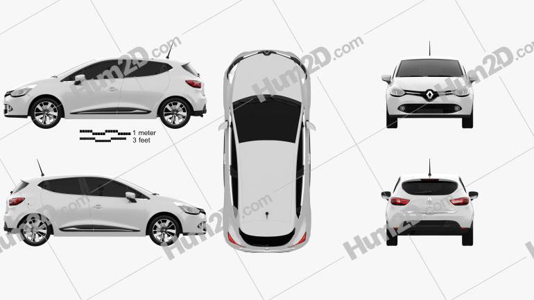 Renault Clio IV 2013 car clipart