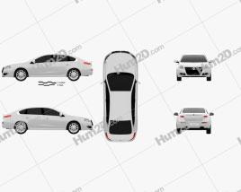 Renault Talisman 2013 car clipart