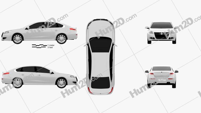 Renault Talisman 2013 Clipart Image