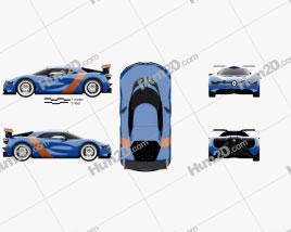 Renault Alpine A110-50 2012 car clipart
