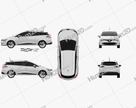 Renault Clio IV Estate 2013 car clipart