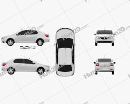 Renault Symbol (Logan) 2013 car clipart