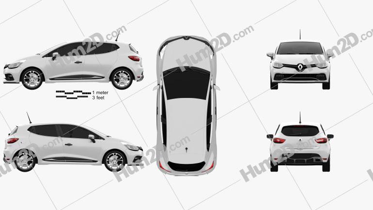 Renault Clio IV RS 2013 car clipart