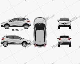 Renault Captur 2014 car clipart