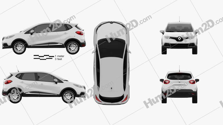 Renault Captur 2014 Clipart Image