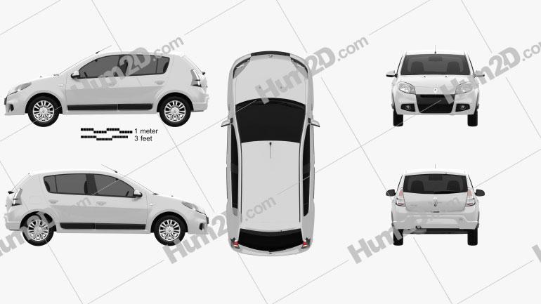 Renault Sandero (BR) 2011 car clipart