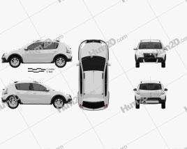Renault Sandero Stepway (BR) 2011 Clipart