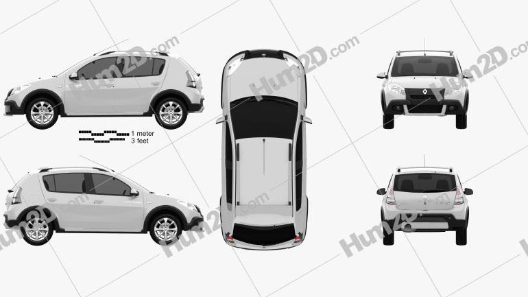 Renault Sandero Stepway (BR) 2011 Clipart Image