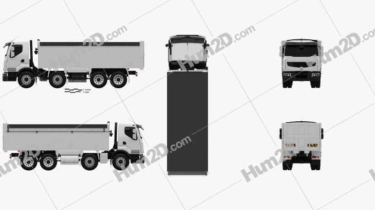 Renault Premium Lander Tipper Truck 2012 clipart