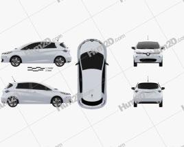 Renault Zoe 2013 car clipart
