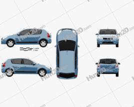 Renault Sandero 2012 car clipart