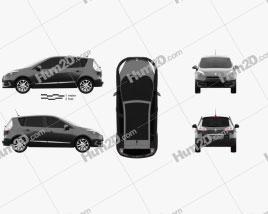 Renault Scenic 2013 car clipart