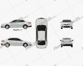 Renault Fluence 2012 car clipart