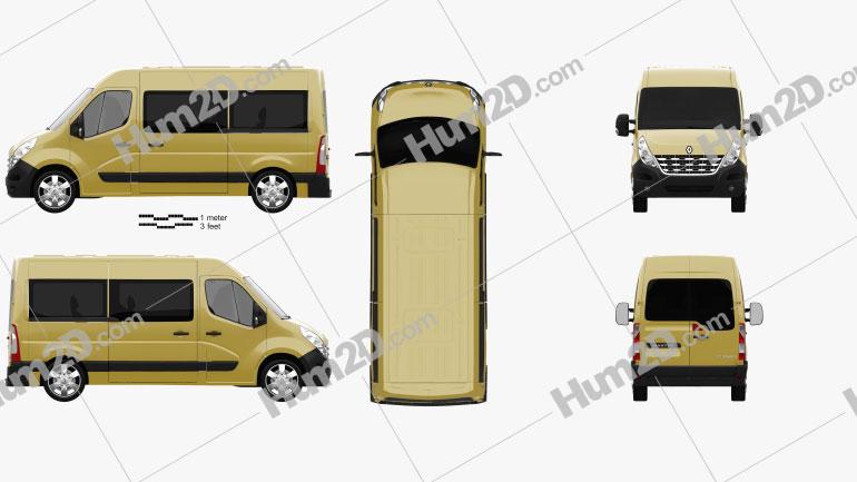 Renault Master Passenger Van 2010 clipart