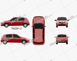 Renault Clio Mercosur 5-door hatchback 2013 car clipart