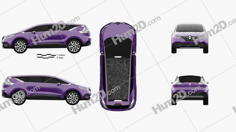 Renault Initiale Paris 2013 car clipart
