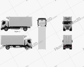 Renault Premium Distribution Refrigerator Truck 2011 clipart