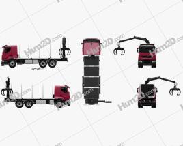 Renault Premium Lander Logging Truck 2006