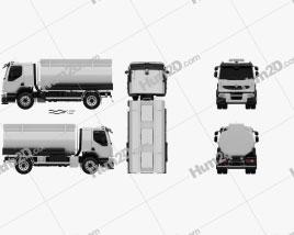Renault Premium Lander Tanker Truck 2006 clipart