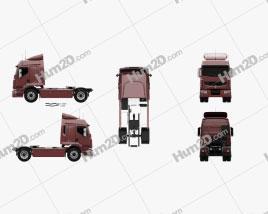 Renault Premium Route Tractor Truck 2006 clipart