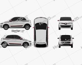 Renault Twingo 2014 car clipart