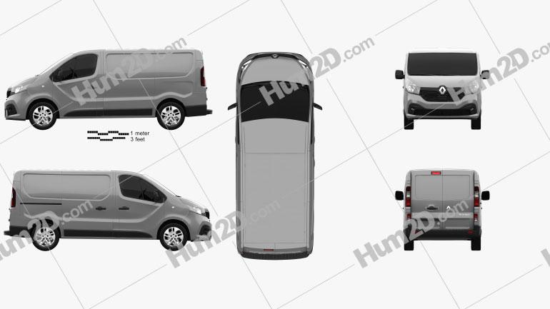 Renault Trafic Panel Van 2014 clipart