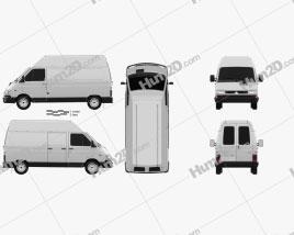 Renault Trafic Panel Van HR 1995 clipart