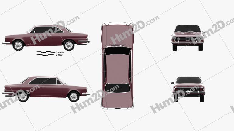 Renault IKA Torino Coupe 1976 car clipart