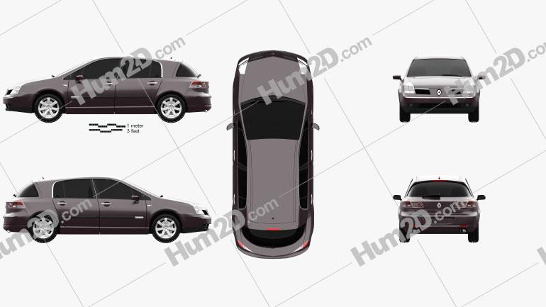 Renault Vel Satis 2005 Clipart Image