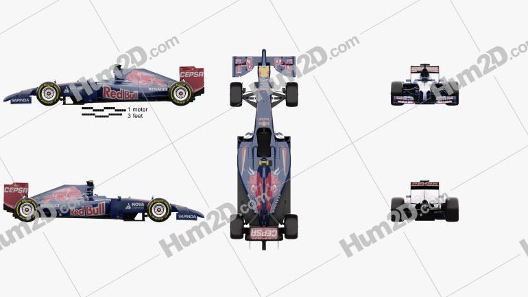 Toro Rosso STR9 2014 car clipart