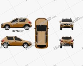Renault Sandero Stepway (BR/RU) 2014 Clipart