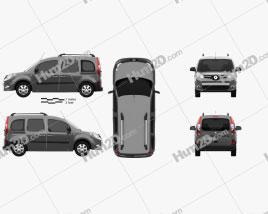 Renault Kangoo 2014 clipart
