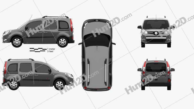 Renault Kangoo 2014 Clipart Image
