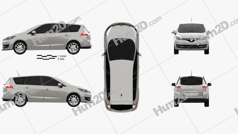 Renault Grand Scenic 2014 car clipart