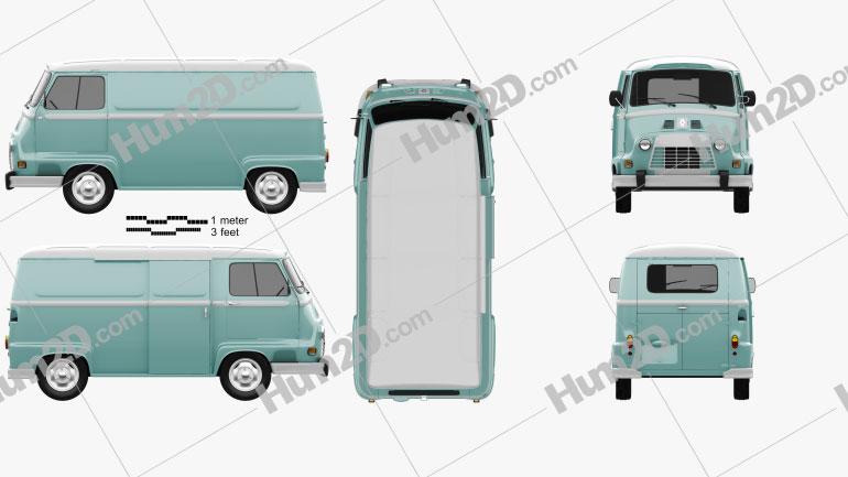 Renault Estafette Panel Van 1976 Clipart Image