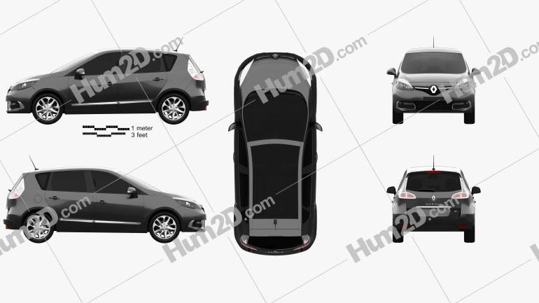 Renault Scenic MPV 2013 car clipart