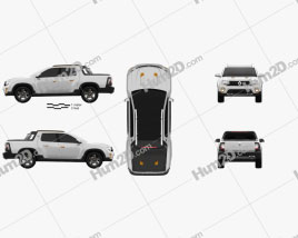 Renault Duster Oroch Konzept 2015 car clipart