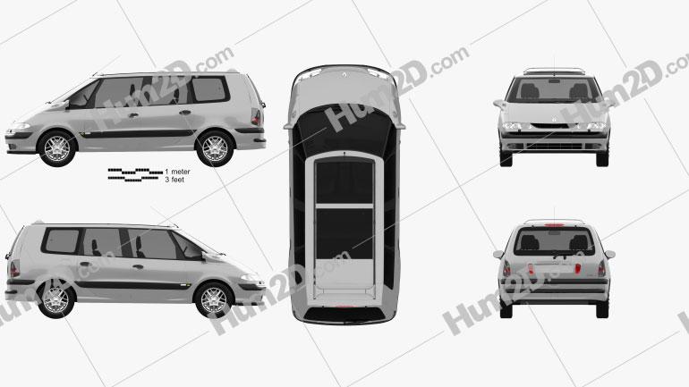Renault Espace 1996 clipart