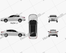 Renault Latitude 2013 car clipart