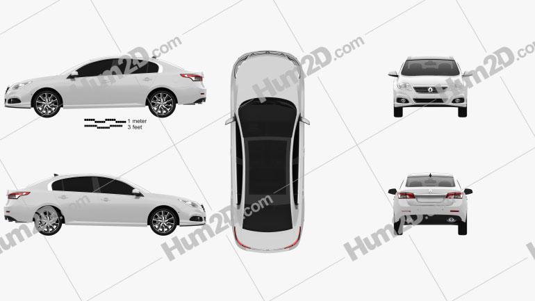 Renault Latitude 2013 Clipart Image