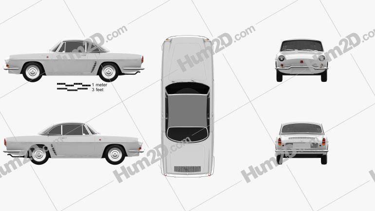 Renault Floride 1962 car clipart