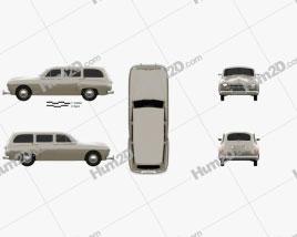Renault Fregate wagon 1956 car clipart