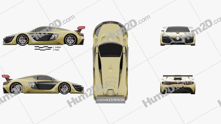 Renault Sport R.S. 01 2015 car clipart