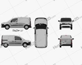Renault Kangoo Van 2014 clipart
