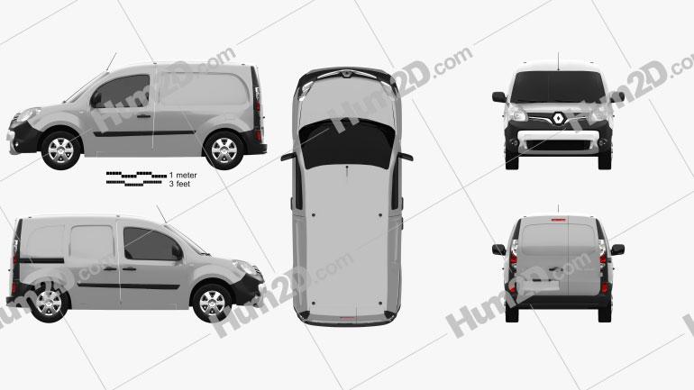 Renault Kangoo Van 2014 Imagem Clipart