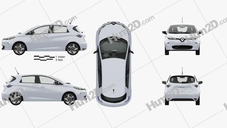 Renault ZOE mit HD Innenraum 2013 car clipart