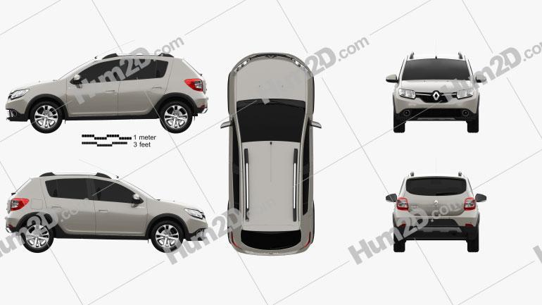 Renault Sandero Stepway 2014 car clipart