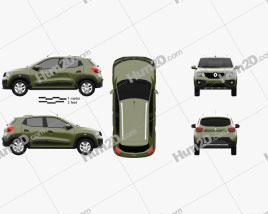 Renault Kwid 2016 car clipart