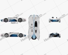 Renault Alpine Vision Gran Turismo 2015 car clipart